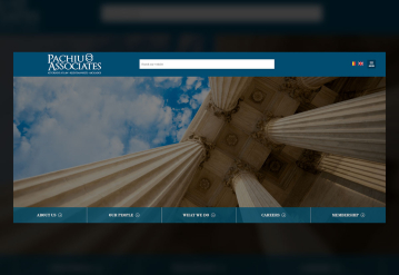 Portofolio  Presentation Website of the Law Office - Pachiu & Associates