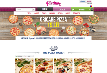 Portofoliu Platforma Comenzi Online - Restaurant cu Livrare la Domicilu - Pizzicato