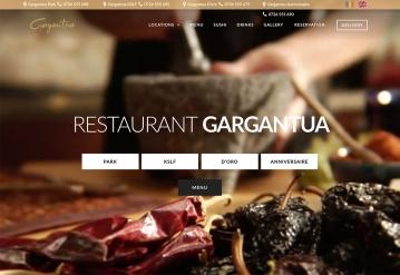 Portofolio Presentation Website and Integrated Delivery Area - Gargantua Restaurant