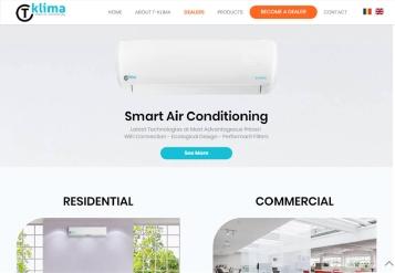Portofoliu Website de Prezentare Profesional pentru Brandul T-Klima