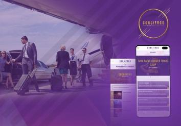 Portofolio Mobile Android & iOS app dedicated to concierge services - Consiergo