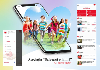 AppMotion - Aplicatii WEB&Mobile | Servicii Software | Custom Aplicatie iOS & Android pentru Asociatia  'Salveaza o inima'