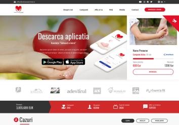 Portofolio Presentation website for charitable Association 'Salveaza o inima'