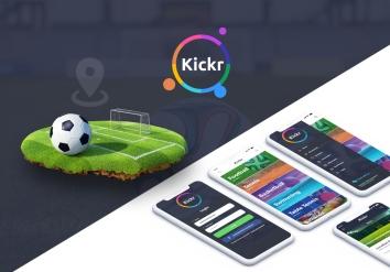 Portofoliu KICKR - Aplicatie Android & iOS pentru rezervare terenuri de sport