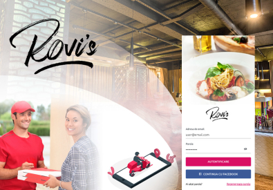 AppMotion - Aplicatii WEB&Mobile | Servicii Software | Custom Rovi`s Delivery - Aplicatie Mobile pentru restaurante cu livrare mancare la domiciliu