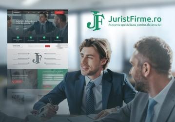 Jurist Firme - Website si platforma web pentru servicii de consultanta